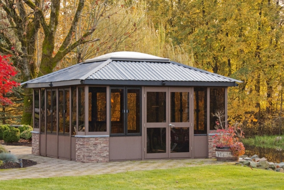 Gazebos gazebos for hot tubs for Cal spa gazebo
