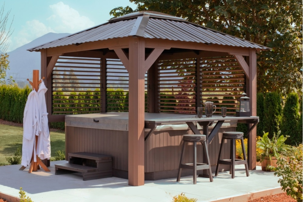 Hot tub gazebos for sale quotes for Spa gazebos